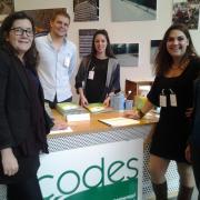 L'équipe du CODES à l'accueil de la journée d'étude