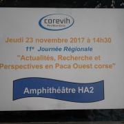 Affiche de la 11ème journée Régionale COREVIH PACA OUEST CORSE.