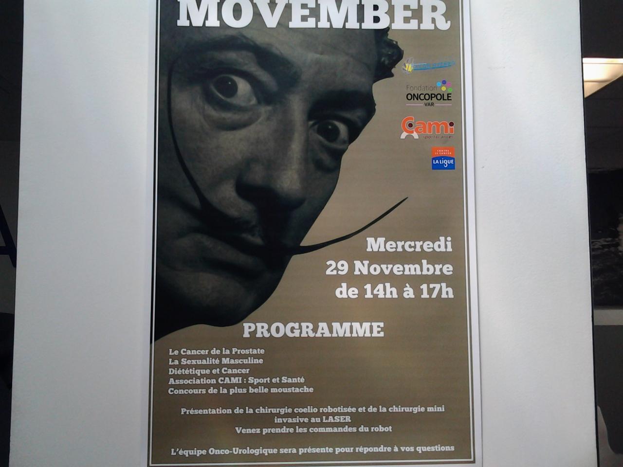 Programme Movember 2017.
