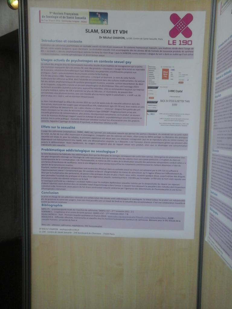 Affiche le 190  SLAM SEXE ET VIH