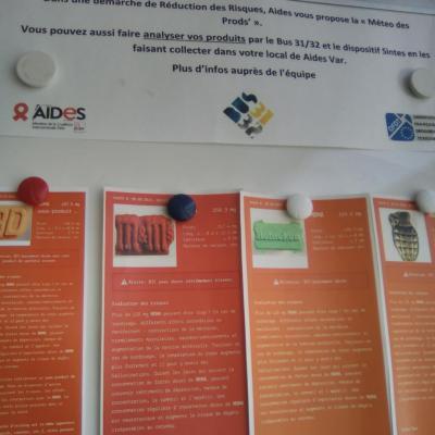 Intervention à AIDES Toulon pour des personnes Caarud.