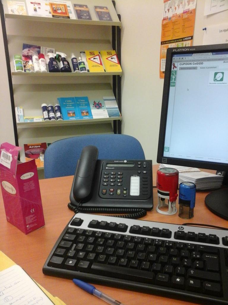 Le bureau où je reçois les patients