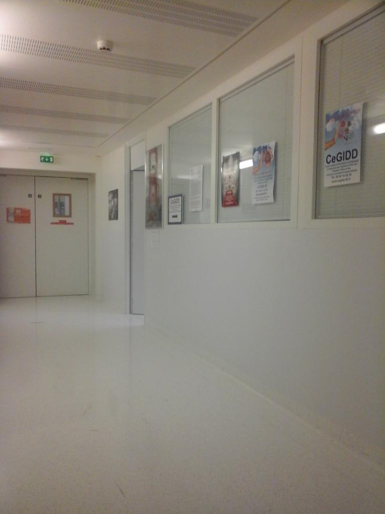 Le couloir du CeGIDD