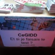 Le stand du CeGIDD lors du Forum
