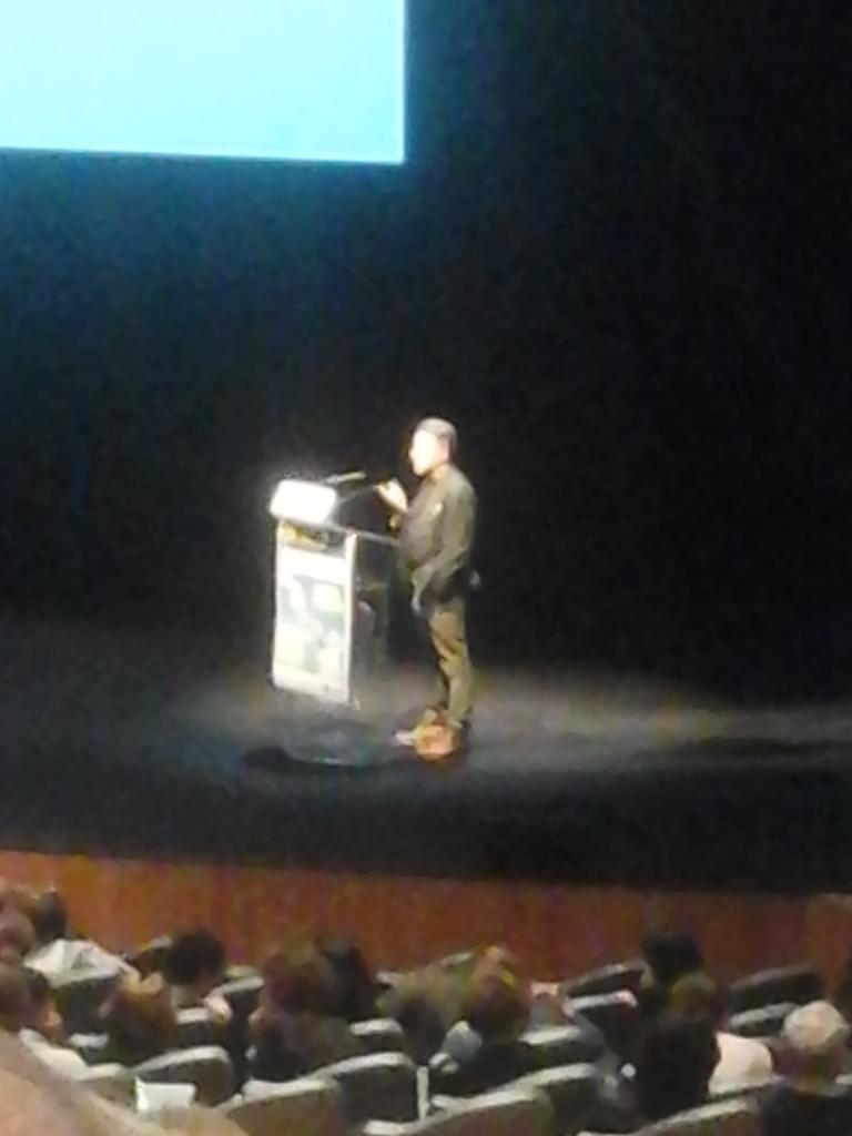 P. Brenot lors de la conférence inaugurale