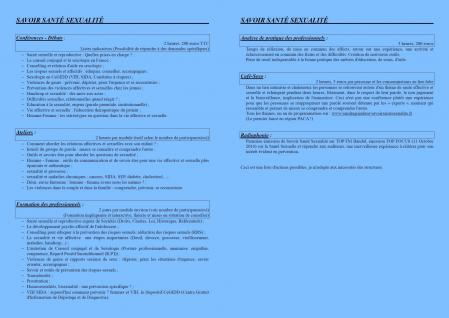 Plaquette Formation - page interieure - programme